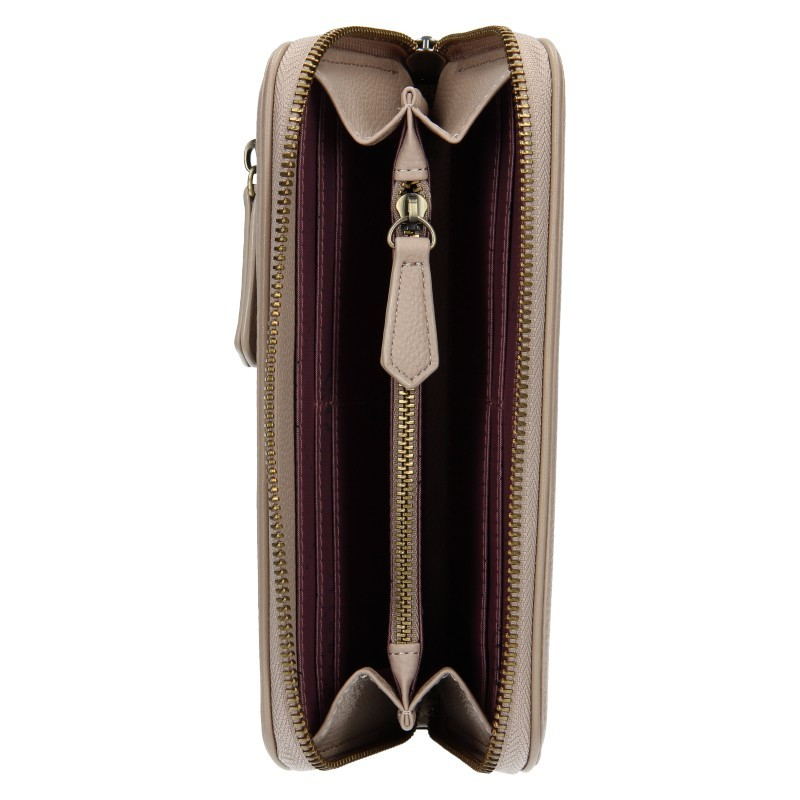Dámská kožená peněženka Bugatti Alexis - béžová