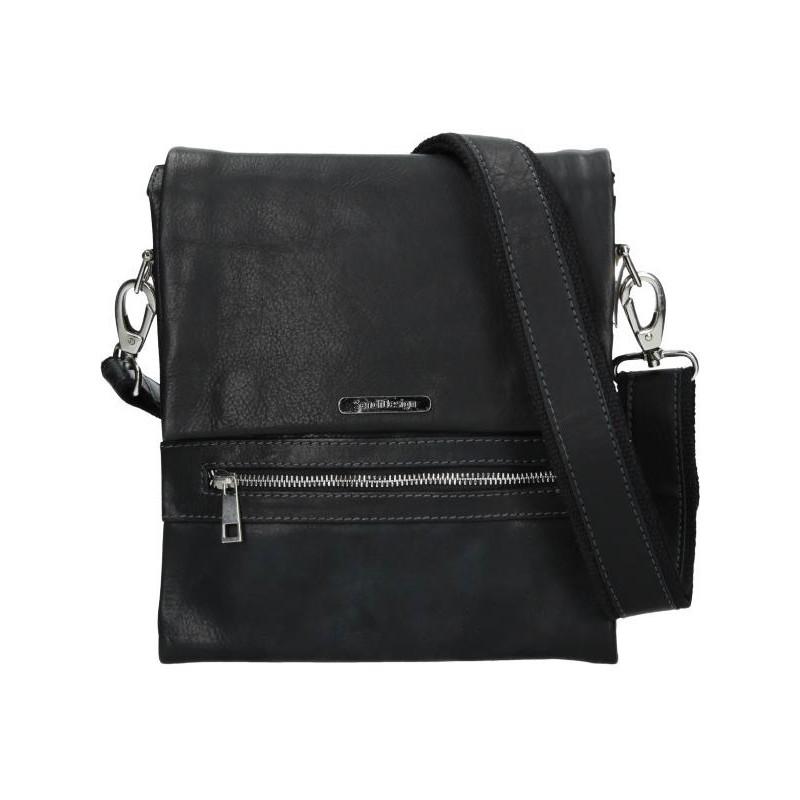 Pánská kožená taška přes rameno SendiDesign Armand - černá