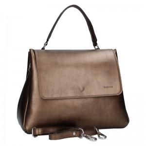 Dámská kožená kabelka Facebag Ditta - bronzová