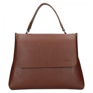 Dámská kožená kabelka Facebag Ditta - hnědá