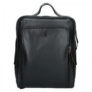 Pánský kožený batoh Alweys Wild Denis - černá