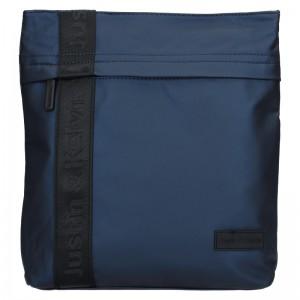 Pánská taška přes rameno Justin & Kelvin David - modrá