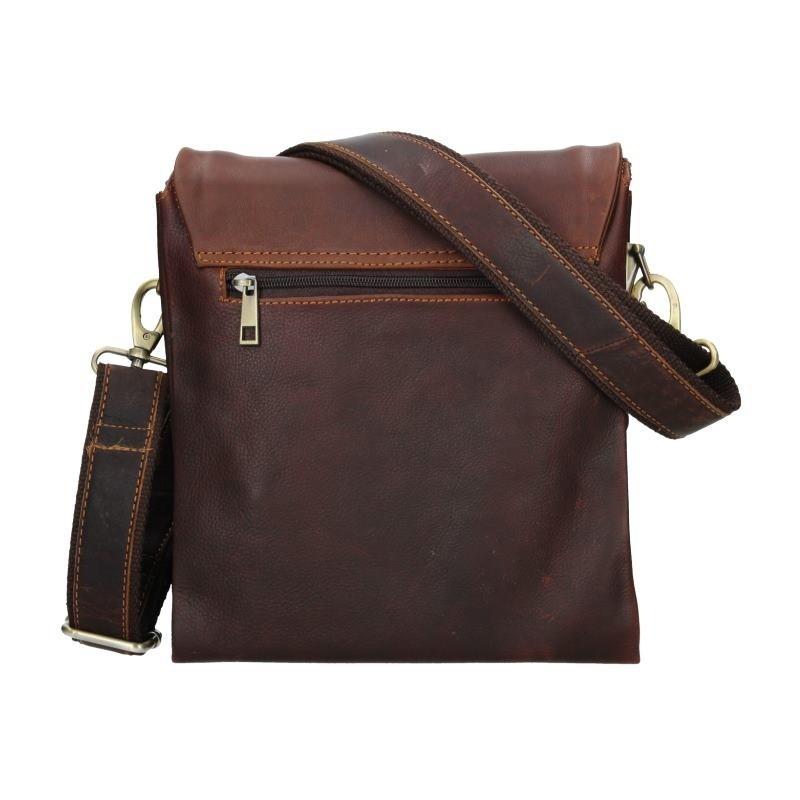 Pánská kožená taška přes rameno SendiDesign Armand - hnědá