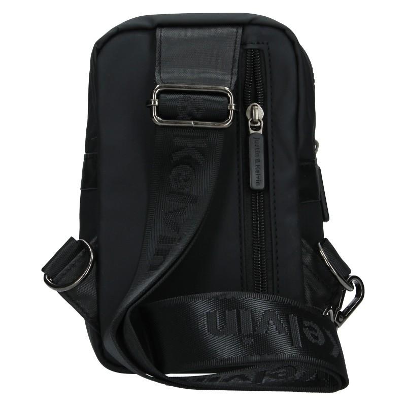 Pánská taška přes rameno Justin & Kelvin Cross - černá