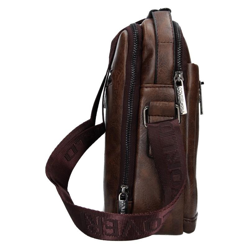 Pánská taška přes rameno Coveri World Albert - hnědá