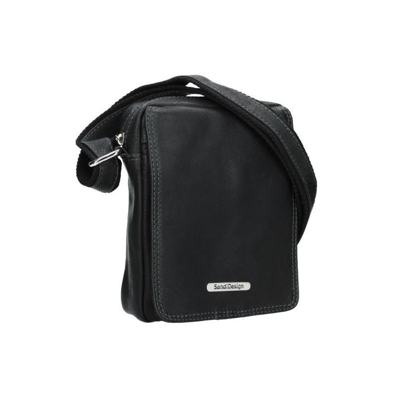 Pánská kožená taška přes rameno SendiDesign Nilson - černá