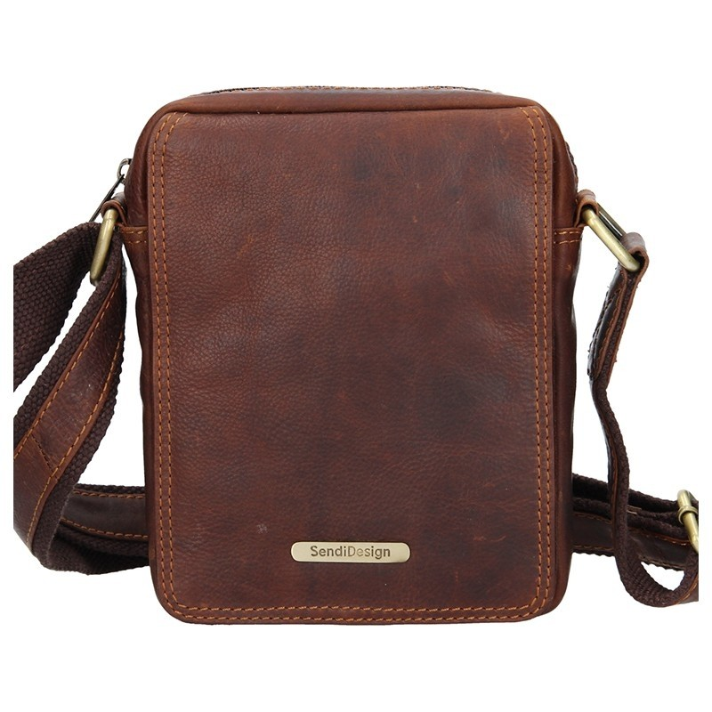 96cde36b21 Pánská kožená taška přes rameno SendiDesign Nilson - hnědá