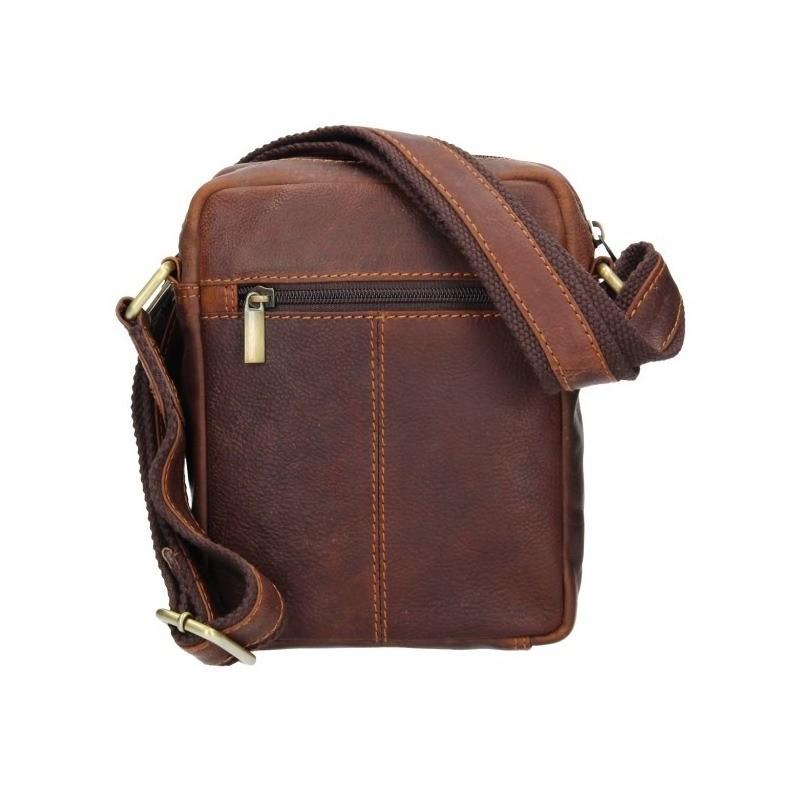 Pánská kožená taška přes rameno SendiDesign Nilson - hnědá