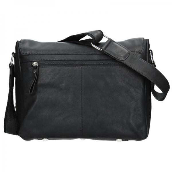 Pánská kožená taška přes rameno SendiDesign Morel - černá