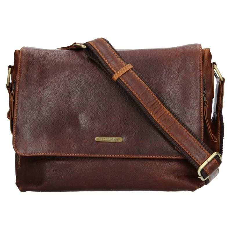 Pánská kožená taška přes rameno SendiDesign Morel - hnědá