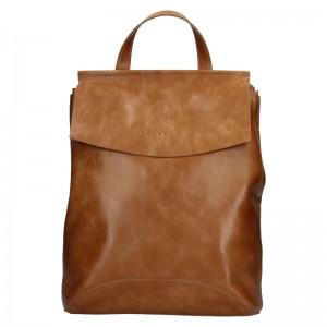 Dámský kožený batoh Facebag Stella - koňak