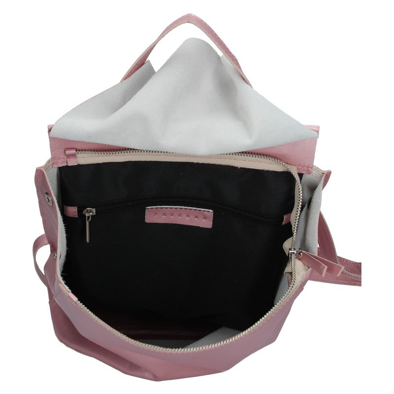 Dámský kožený batoh Facebag Stella - růžová