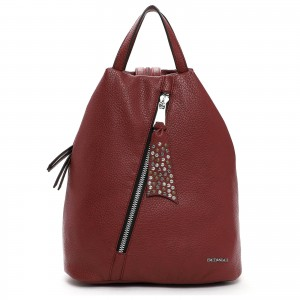 Elegantní dámský batoh Emily & Noah Nicol - červená