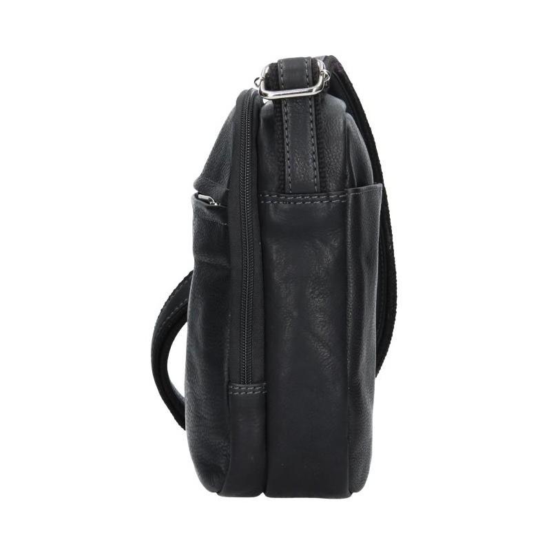 Pánská kožená taška přes rameno SendiDesign Cyrano - černá