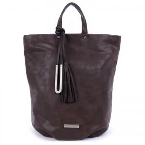 Elegantní dámský batoh Emily & Noah Frenia - hnědá