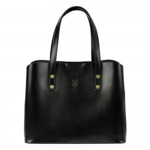 Dámská kožená kabelka Vera Pelle Hannah - černá