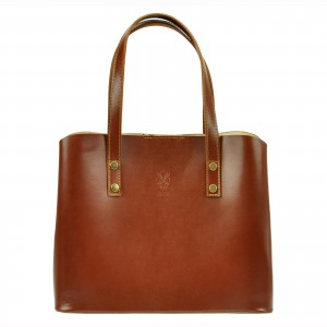 Dámská kožená kabelka Vera Pelle Hannah - hnědá