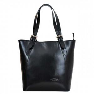 Dámská kožená kabelka L Artigiano Verra - černá