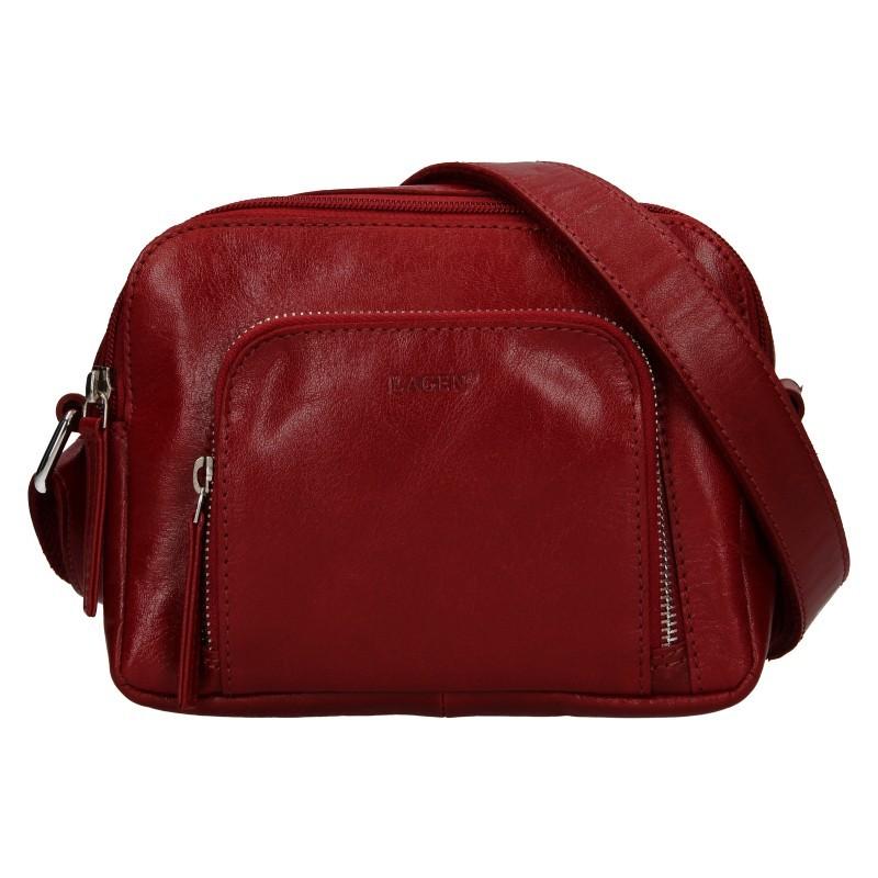 Dámská crosbody kabelka Lagen Candy - tmavě červená