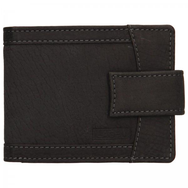 Pánská kožená peněženka Lagen Jack - černá