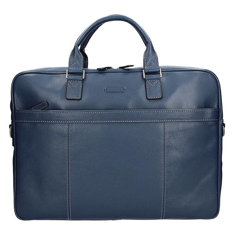 Pánská kožená taška přes rameno Katana Simons - modrá