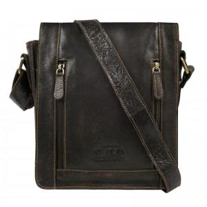 Pánská taška přes rameno Always Wild Libor - tmavě hnědá