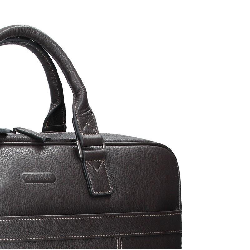 Pánská kožená taška přes rameno Katana Simons - hnědá