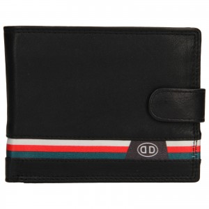 Pánská kožená peněženka DD Anekta Leon - černá