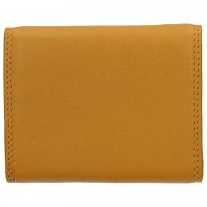 Dámská kožená peněženka DD Anekta Renna - žlutá