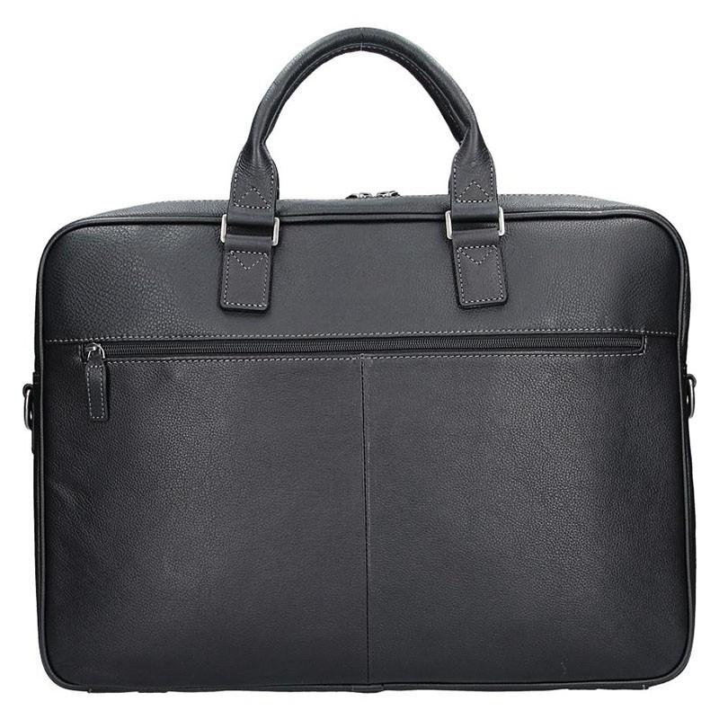 Pánská kožená taška přes rameno Katana Simons - černá