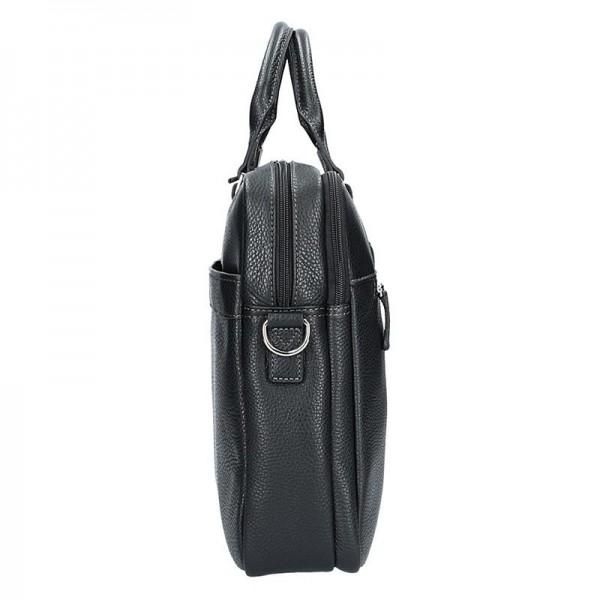 Pánská kožená taška přes rameno Katana Alfons - černá