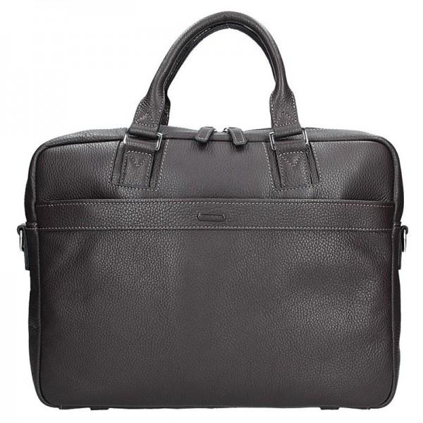 Pánská kožená taška přes rameno Katana Alfons - hnědá