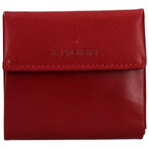 Dámská kožená peněženka Lagen Aneta - červená
