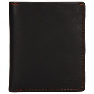 Pánská kožená peněženka Lagen Patrik - tmavě hnědá