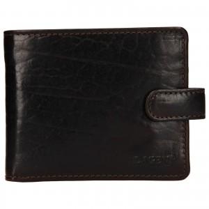 Pánská kožená peněženka Lagen Mareteo - tmavě hnědá
