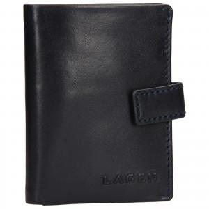 Pánská kožená peněženka/vizitkář Lagen Michael - modrá