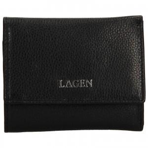 Dámská kožená peněženka Lagen Lucie - černá
