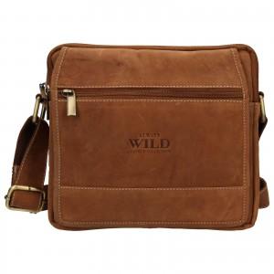 Pánská taška přes rameno Always Wild Daniel - světle hnědá