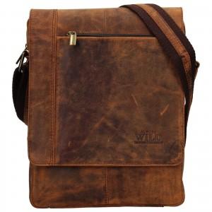 Pánská taška přes rameno Always Wild Artair - tmavě hnědá