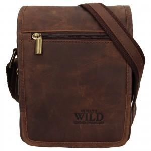 Pánská taška přes rameno Always Wild Vilden - hnědá