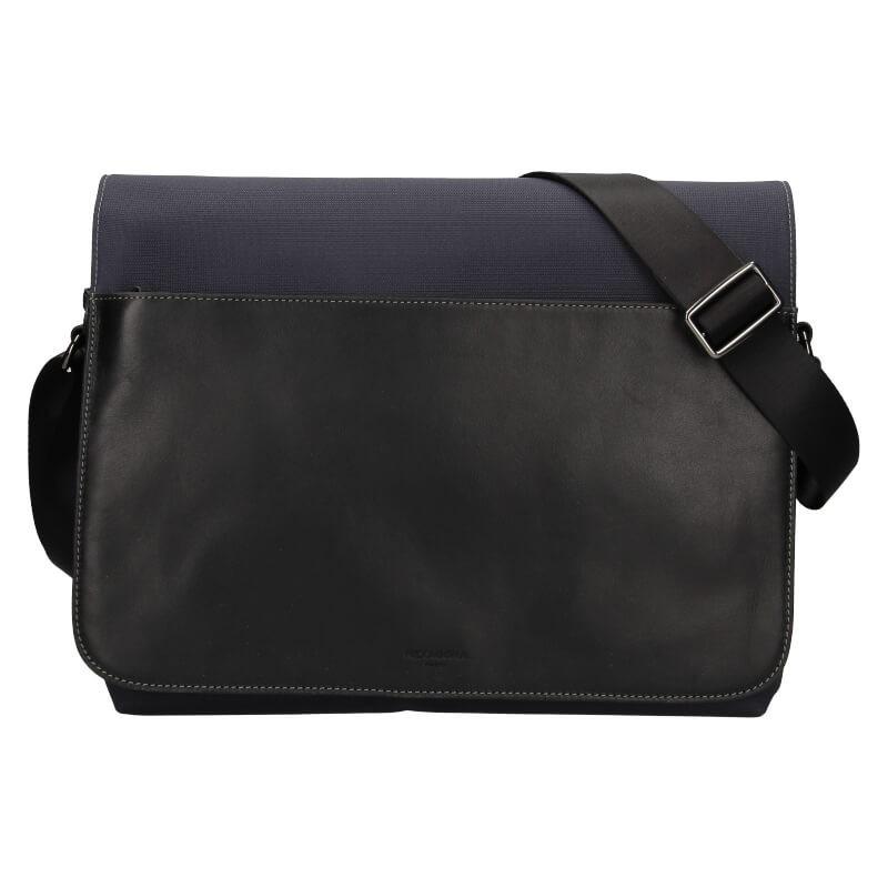 Pánská taška přes rameno Hexagona Davon - černo-modrá