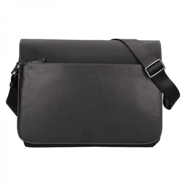 Pánská taška přes rameno Hexagona Davon - černá