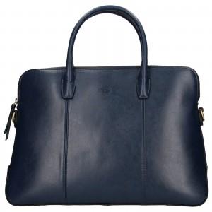 Elegantní dámská kožená kabelka Katana Celesta - tmavě modrá