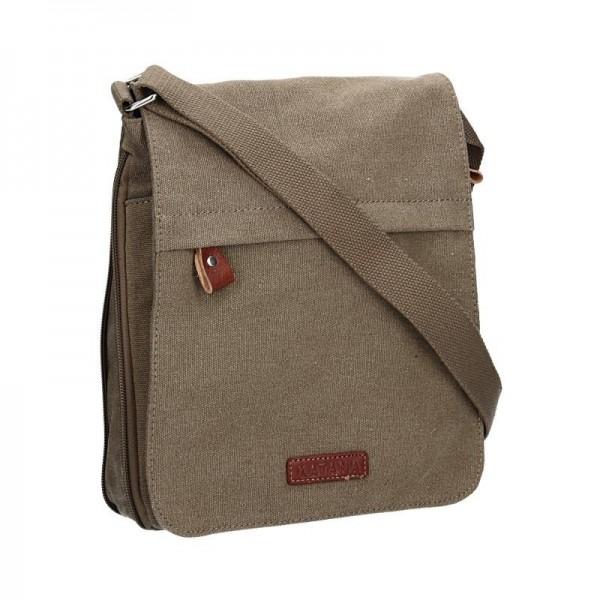 Pánská taška Katana David - zeleno-hnědá
