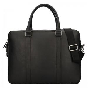Pánská kožená business taška Lagen Porter - černá