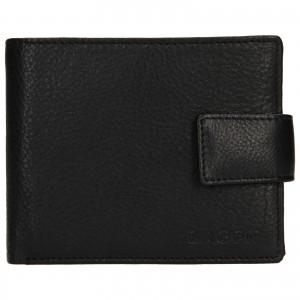 Pánská kožená peněženka Lagen Kanno - černá