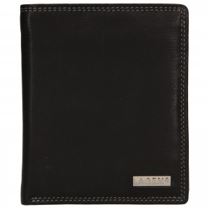 Pánská kožená peněženka Lagen Olsenn - černá