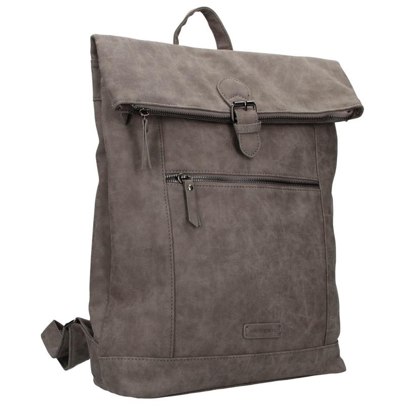 Moderní dámský batoh Enrico Benetti Badea - šedá
