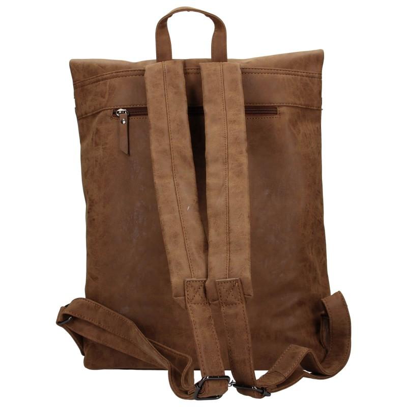 Moderní dámský batoh Enrico Benetti Badea - hnědá