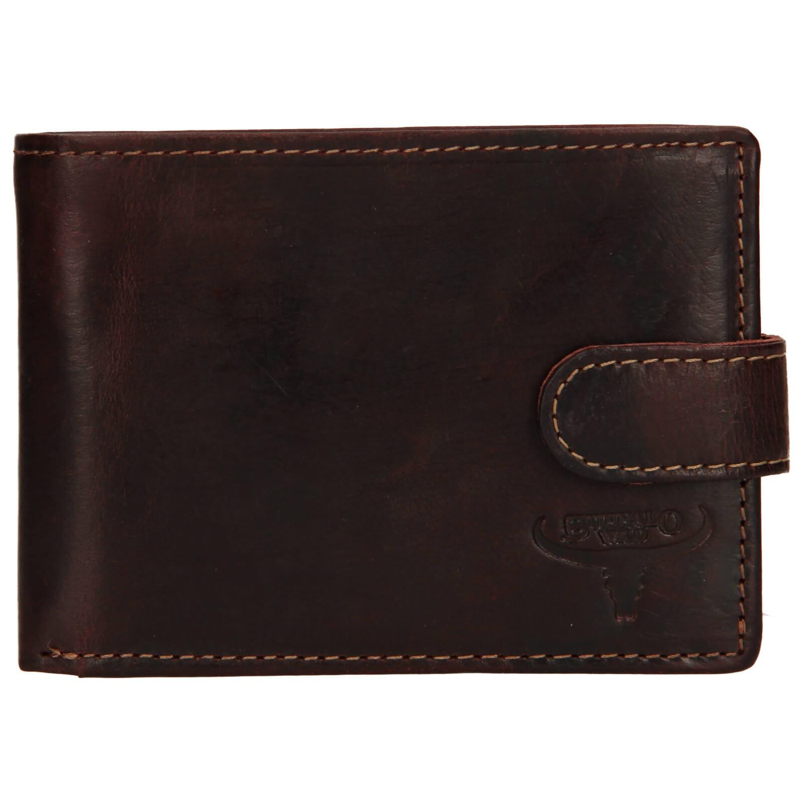 Pánská kožená peněženka Wild Buffalo Marcel - hnědá
